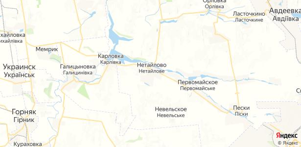 Нетайлово на карте