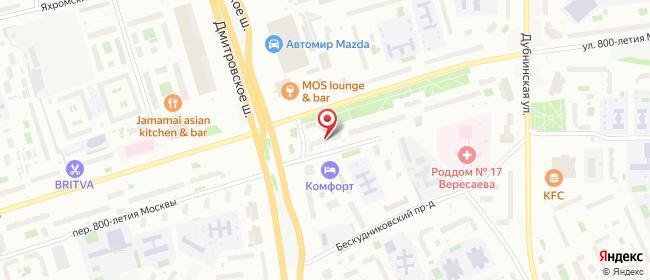 Карта расположения пункта доставки Москва 800-летия Москвы в городе Москва