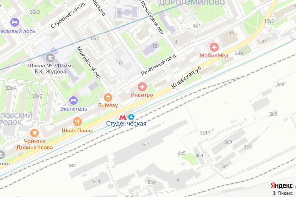 Ремонт телевизоров Улица Киевская на яндекс карте