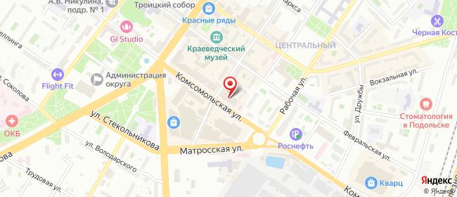 Карта расположения пункта доставки Халва в городе Подольск