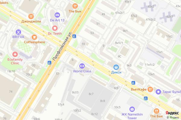 Ремонт телевизоров Улица Наметкина на яндекс карте