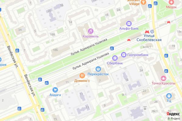 Ремонт телевизоров Адмирала Ушакова бульвар на яндекс карте