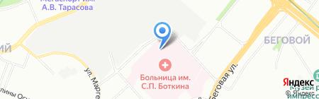 Оптика Боткинская на карте Москвы
