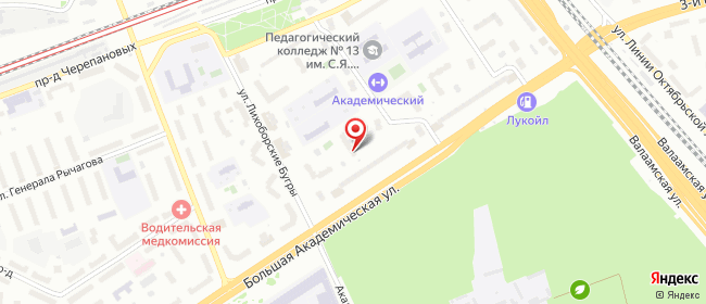 Карта расположения пункта доставки Москва Академическая Б. в городе Москва