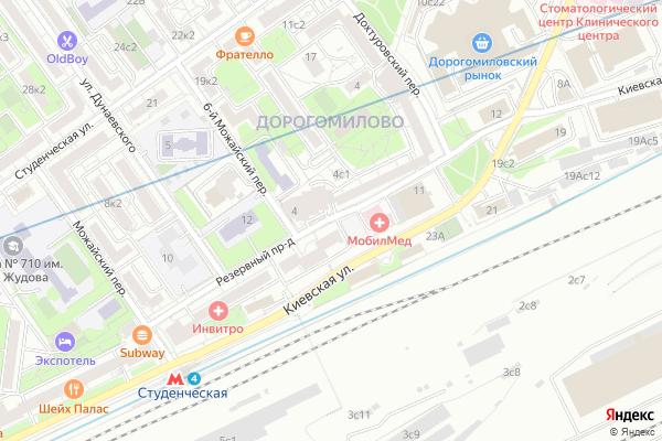 Ремонт телевизоров Резервный проезд на яндекс карте