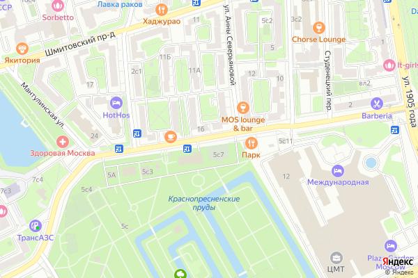 Ремонт телевизоров Улица Мантулинская на яндекс карте