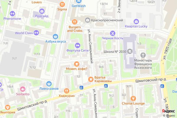 Ремонт телевизоров Улица Анатолия Живова на яндекс карте