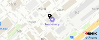Toyota на Бережковской на карте Москвы