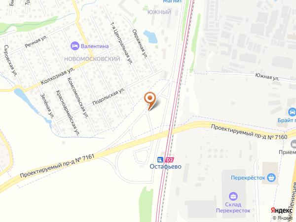 Остановка «Ст. МЦД Остафьево», Заводская улица (1008925) (Москва)