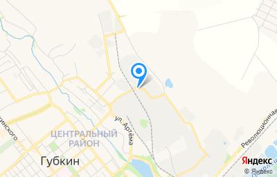 Местоположение на карте пункта техосмотра по адресу Белгородская обл, г Губкин, ул Горноспасателей