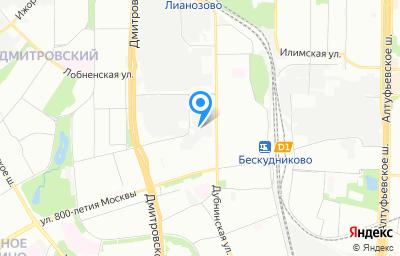 Местоположение на карте пункта техосмотра по адресу г Москва, ул Дубнинская, д 75Б стр 1
