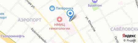 Аквамастер на карте Москвы