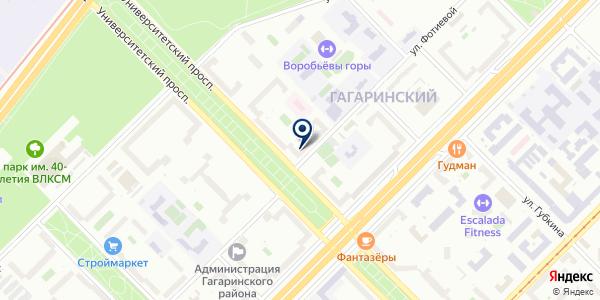 Магазин на карте Москве