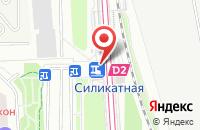 Схема проезда до компании Силикатная в Подольске