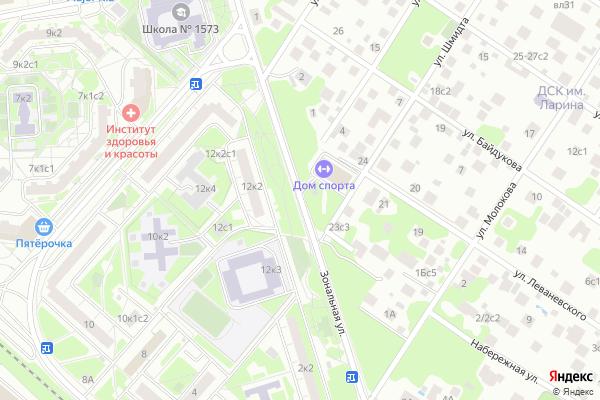 Ремонт телевизоров Улица Зональная на яндекс карте