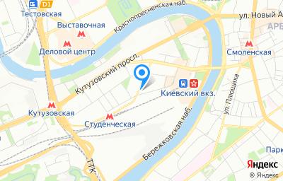Местоположение на карте пункта техосмотра по адресу г Москва, ул Киевская, д 8