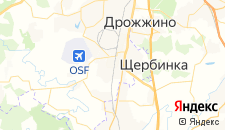 Отели города Щербинка на карте