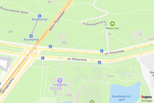 Ремонт телевизоров Улица Косыгина на яндекс карте