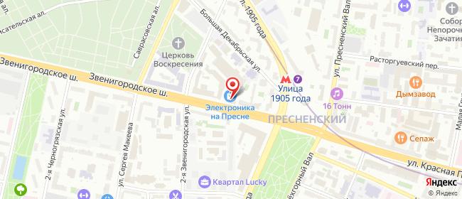 Карта расположения пункта доставки ПВЗ ТЦ Электроника FOTO в городе Москва