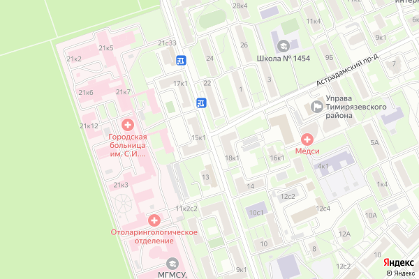 Ремонт телевизоров Улица Вучетича на яндекс карте