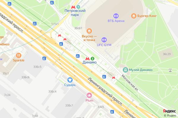 Ремонт телевизоров Метро Динамо на яндекс карте
