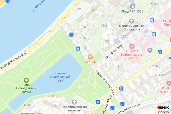 Ремонт телевизоров Новодевичий проезд на яндекс карте