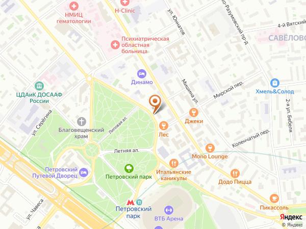 Остановка Петровско-Разумовская аллея в Москве