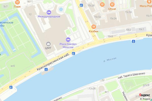 Ремонт телевизоров Краснопресненская набережная на яндекс карте
