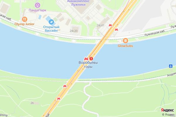 Ремонт телевизоров Метро Воробьвы горы на яндекс карте
