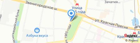 Атмосфера красоты на карте Москвы