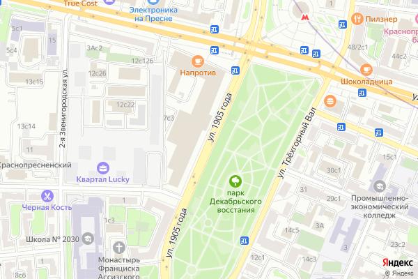 Ремонт телевизоров Улица 1905 года на яндекс карте