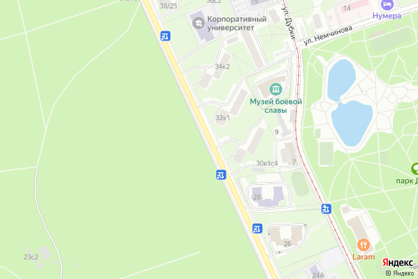 Ремонт телевизоров Улица Тимирязевская на яндекс карте
