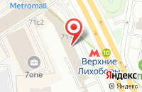 Схема проезда до компании ТФ ЛУКАС-БЛЮЗ в Дмитрове