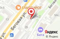 Схема проезда до компании Антей в Москве