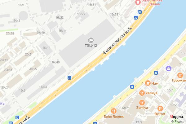 Ремонт телевизоров Бережковская набережная на яндекс карте