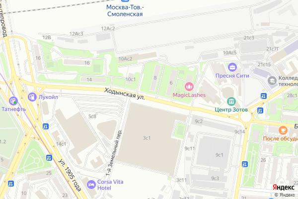 Ремонт телевизоров Улица Ходынская на яндекс карте