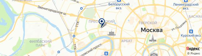 Расположение клиники «ОН КЛИНИК» на Красной Пресне