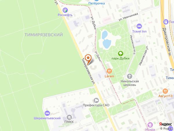 Остановка Парк Дубки в Москве