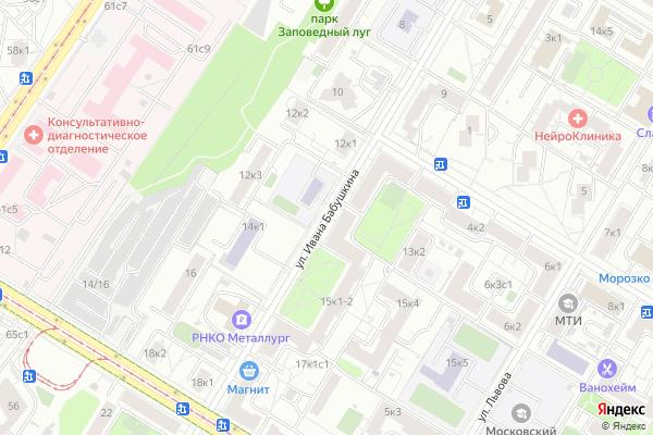 Ремонт телевизоров Улица Ивана Бабушкина на яндекс карте