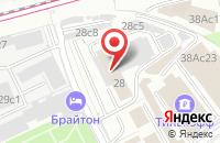 Схема проезда до компании Технохим в Москве