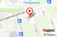 Схема проезда до компании Хортен в Москве