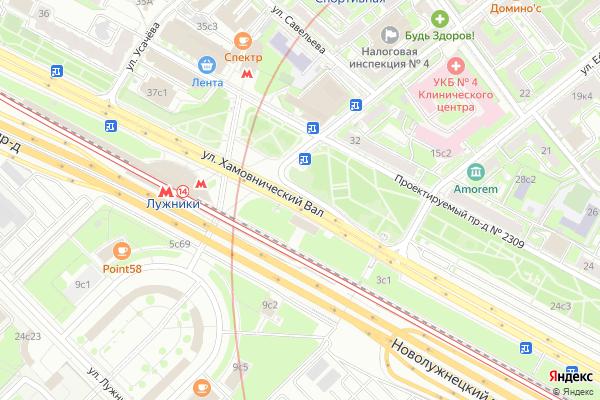 Ремонт телевизоров Улица Хамовнический Вал на яндекс карте