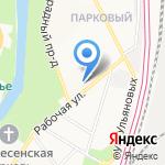Межмуниципальный отдел по Подольскому и Чеховскому районам Управления Федеральной службы государственной регистрации на карте Подольска