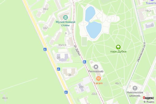 Ремонт телевизоров Улица Дубки на яндекс карте