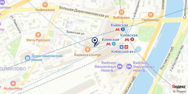 Adagio Moscow Kievskaya на карте Москве