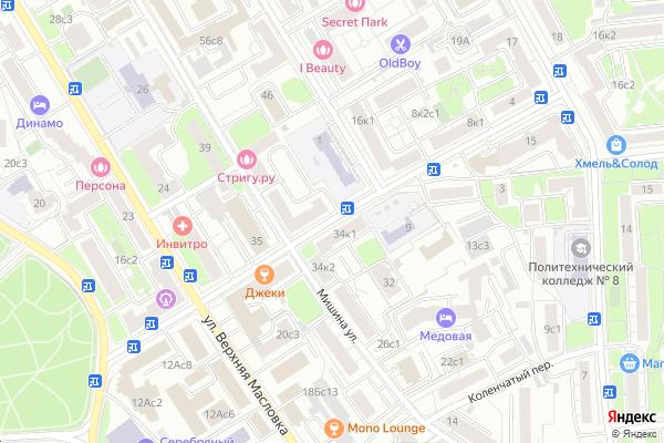 Ремонт телевизоров Мирской переулок на яндекс карте