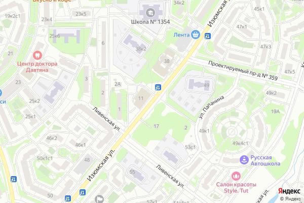 Ремонт телевизоров Улица Изюмская на яндекс карте
