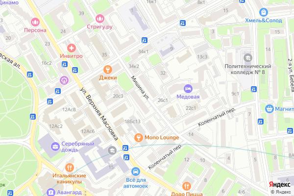 Ремонт телевизоров Улица Мишина на яндекс карте