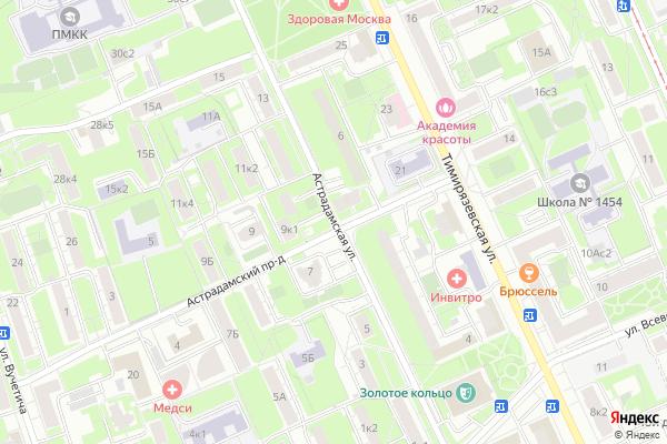 Ремонт телевизоров Улица Астрадамская на яндекс карте