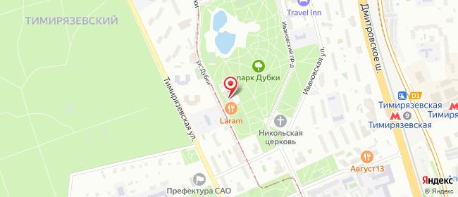 Карта расположения пункта доставки Москва Дубки в городе Москва